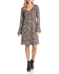 Karen Kane - Animal Print Dress - Lyst