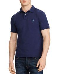 Polo Ralph Lauren - Cotton Mesh Custom Slim Fit Polo Shirt - Lyst