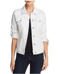 Aqua - Denim Trucker Jacket - Lyst