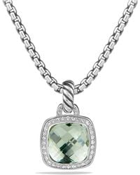 David Yurman - Albion Pendant With Prasiolite And Diamonds - Lyst