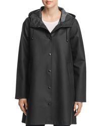 Stutterheim - Mosebacke Rubberized Hooded Raincoat - Lyst