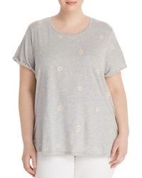 Lucky Brand - Embroidered-daisy Tee - Lyst