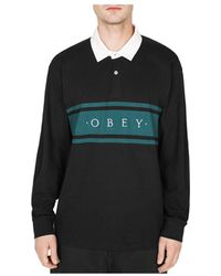 310bdb3a Lyst - Obey Hero Classic Long Sleeve Polo Shirt in Blue for Men