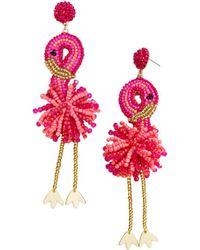 BaubleBar - Fantasia Flamingo Drop Earrings - Lyst