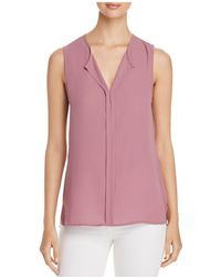 B Collection By Bobeau - Lily Pleated-back Sleeveless Top - Lyst