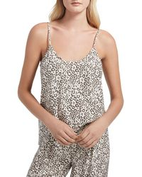 ATM - Lunar Leopard Silk Charmeuse Cami - Lyst