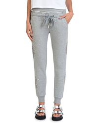 The Kooples - Studded Fleece Sweatpants - Lyst
