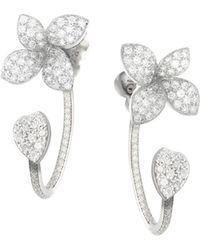 Pasquale Bruni - 18k White Gold Giardini Segreti Diamond Ear Jackets - Lyst