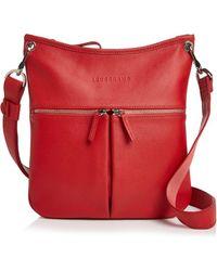 8f60243eb0f0 Longchamp - Veau Foulonne Leather Hobo Crossbody - Lyst