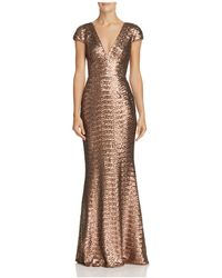 Dress the Population - Lina Sequined Gown - Lyst