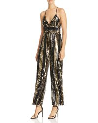 Bardot - Goldie Sequin-stripe Jumpsuit - Lyst