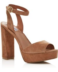 Aqua - Women's Mardi High-heel Platform Sandals - Lyst