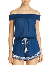 Lucky Brand - Stitch In Time Romper Swim Cover-up - Lyst