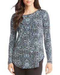 Karen Kane - Printed Shirttail Tee - Lyst