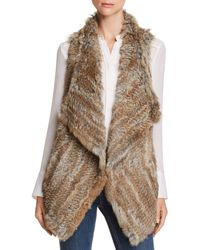 C By Bloomingdale's - Rabbit Fur & Cashmere Vest - Lyst