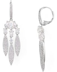 Nadri - Pavé Chandelier Earrings - Lyst