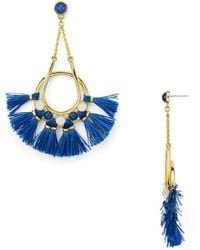 Rebecca Minkoff - Tassel Chandelier Earrings - Lyst