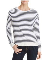 Majestic Filatures - Lightweight Striped Sweatshirt - Lyst