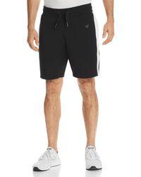 True Religion - Contrast Stripe Sweat Shorts - Lyst