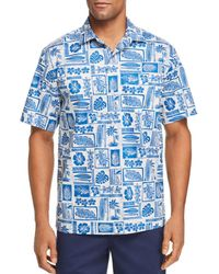 Tommy Bahama - Lido Beach Short - Sleeve Tropical - Print Classic Fit Shirt - Lyst
