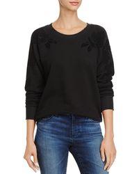 PAIGE - Foxxy Velvet-floral Sweatshirt - Lyst