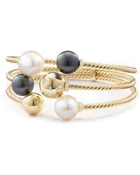 David Yurman - Cultured Tahitian Gray Pearl & Diamonds In 18k Gold - Lyst