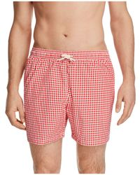 Barbour - Gingham Swim Trunks - Lyst