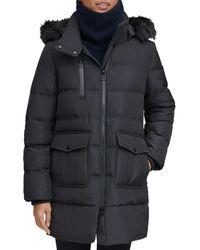 Marc New York - Astoria Faux Fur Trim Anorak - Lyst