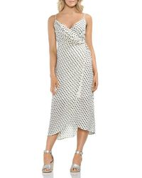 Vince Camuto - Island Imprints Midi Wrap Dress - Lyst