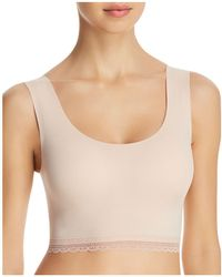 Naked - Lace Trim Seamless Bralette - Lyst