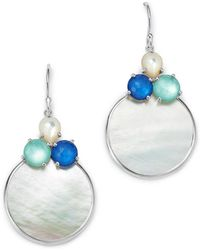 Ippolita - Sterling Silver Wonderland Mother-of-pearl Doublet Circle Drop Earrings - Lyst