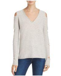 Aqua | Cashmere V-neck Slash-arm Sweater | Lyst