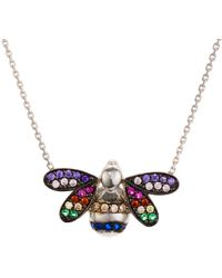 Aqua - Multicolor Bee Pendant Necklace In Sterling Silver - Lyst