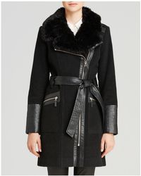Via Spiga - Wool-blend Asymmetric-zip Belted Coat - Lyst