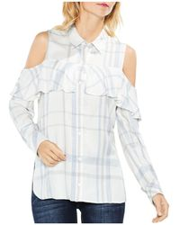 Vince Camuto - Cold-shoulder Ruffle Shirt - Lyst