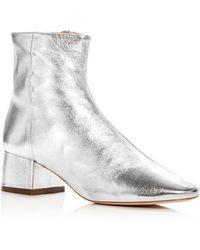 Loeffler Randall - Women's Carter Leather Block Heel Booties - Lyst