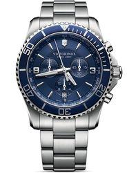 Victorinox - Maverick Chronograph Bracelet Watch - Lyst
