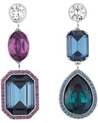Atelier Swarovski - By Tabitha Simmons Mismatched Drop Earrings - Lyst