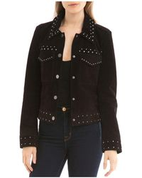 BAGATELLE.NYC - Studded Suede Trucker Jacket - Lyst
