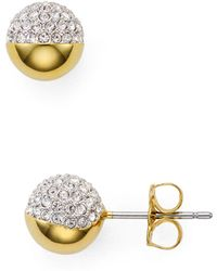 Nadri - Pavé Ball Stud Earrings - Lyst