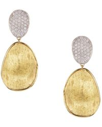Marco Bicego - Diamond Lunaria Two Drop Small Earrings In 18k Gold - Lyst