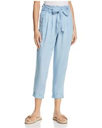 Ella Moss - Cropped Chambray Pants - Lyst
