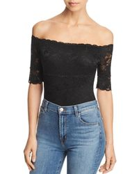 Guess - Dara Off-the-shoulder Lace Bodysuit - Lyst