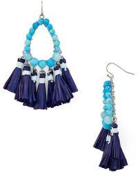 Aqua - Tassel Earrings - Lyst