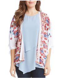 Karen Kane - Embroidered Kimono Jacket - Lyst