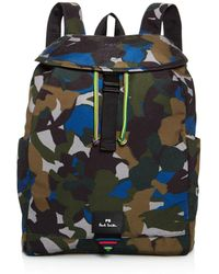 PS by Paul Smith - Canvas Camo Print Backpack - Lyst