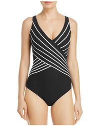 Gottex - Embrace Crossover V-neck One Piece Swimsuit - Lyst