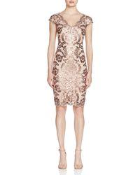 Tadashi Shoji - Sequined Lace Dress - Lyst