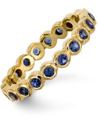 Temple St. Clair - 18k Gold Eternity Ring With Blue Sapphires - Lyst