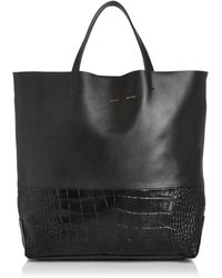 Alice.D - Milano Extra Large Leather Tote - Lyst